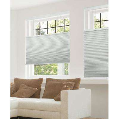 Cut-to-Width Gray Sheen 9/16 in. Blackout Cordless Cellular Shades - 72 in. W x 72 in. L