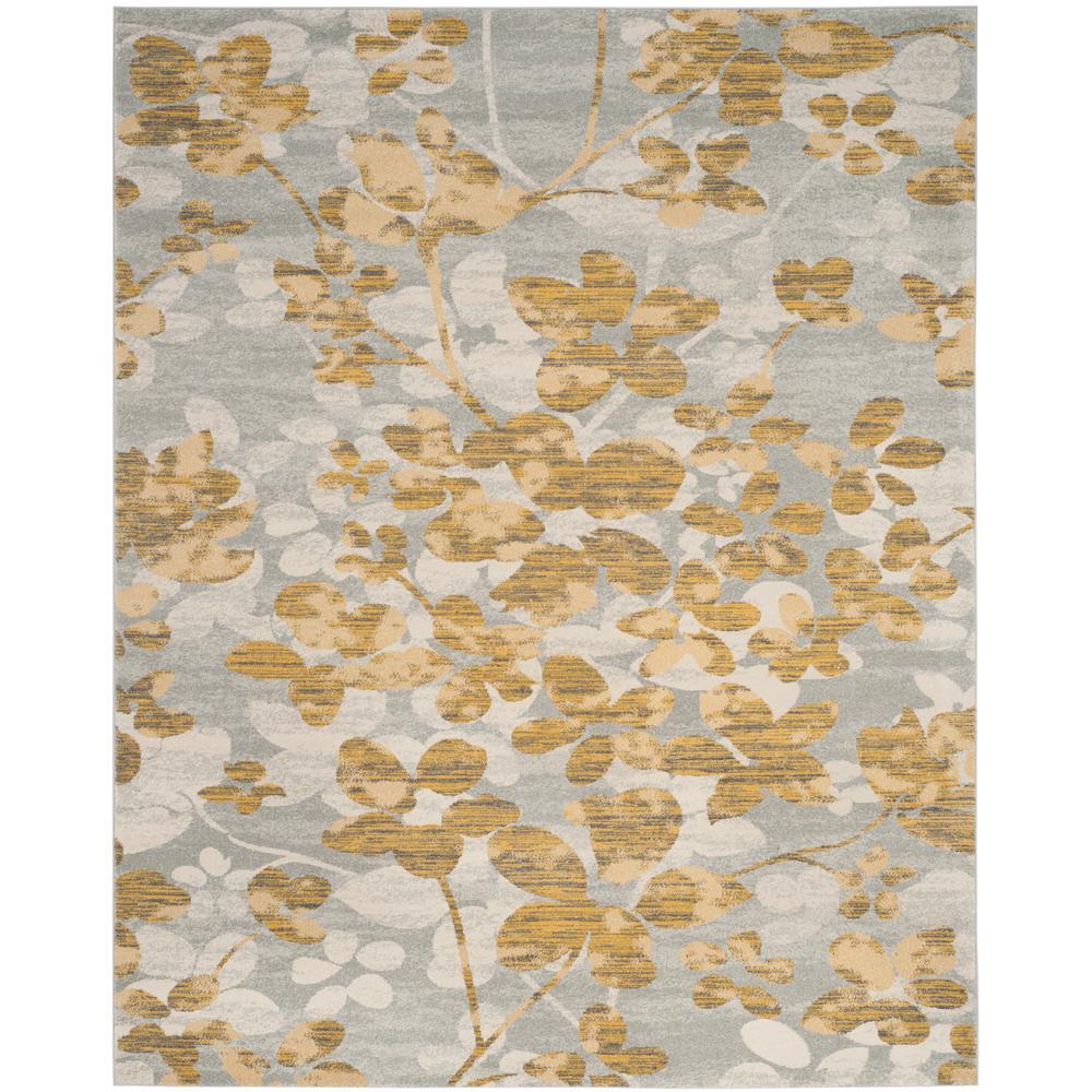 Evoke Gray/Gold 9 ft. x 12 ft. Area Rug