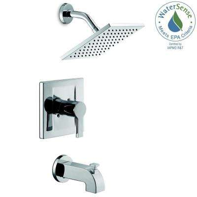 Modern Single Handle 1 Spray Tub And Shower Faucet In Chrome Valve Included