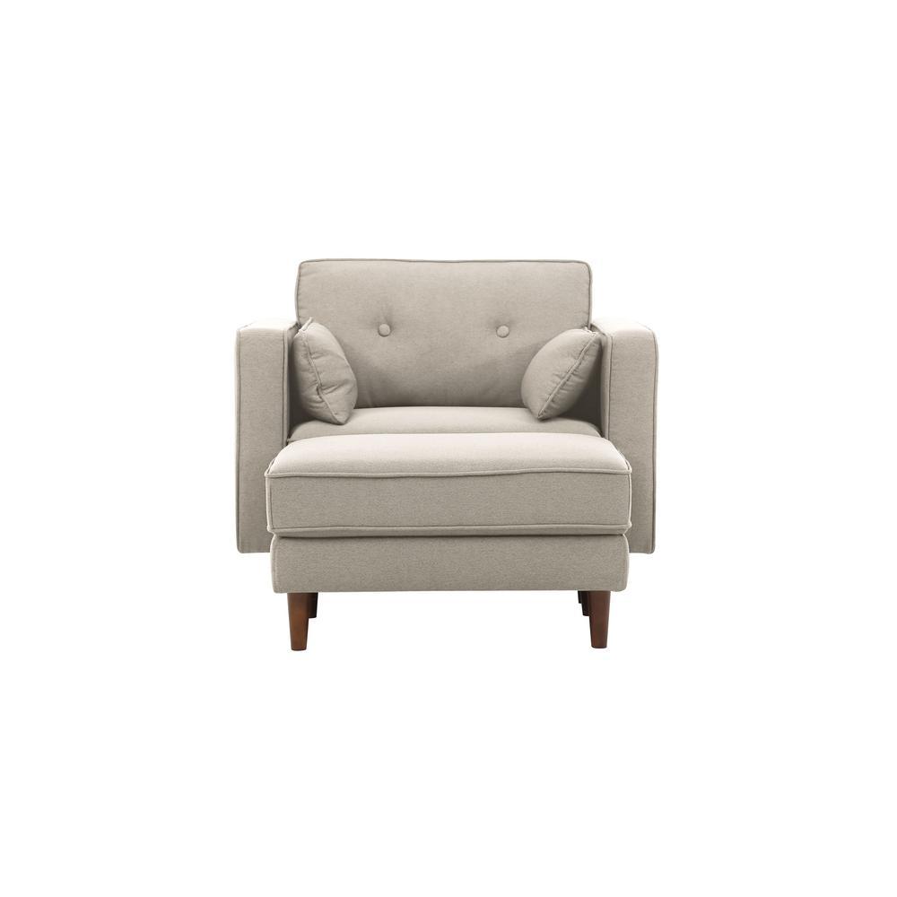 Tucson Taupe Mid Century Modern Arm Chair