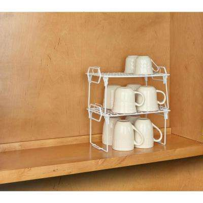 Kitchen Details White Small Foldable Stacking Shelf