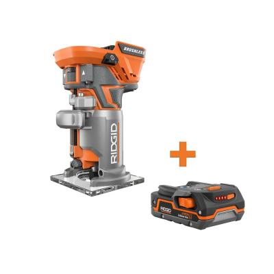 18-Volt Cordless Brushless 1/4 in. Compact Router with 1.5 Ah Lithium-Ion Battery