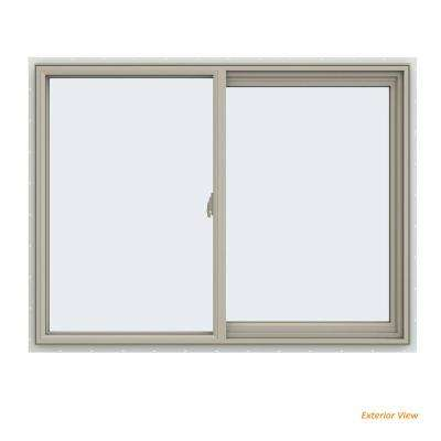 47.5 in. x 35.5 in. V-2500 Series Desert Sand Vinyl Right-Handed Sliding Window with Fiberglass Mesh Screen