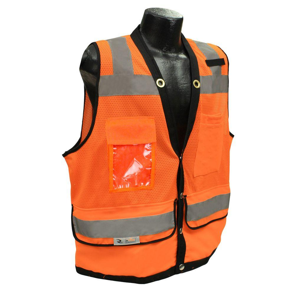 Radians CL 2 Heavy Duty Large Surveyor Orange Dual Safety Vest