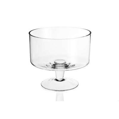 Lexington 9 in. Clear Mouth Blown Glass Trifle Bowl