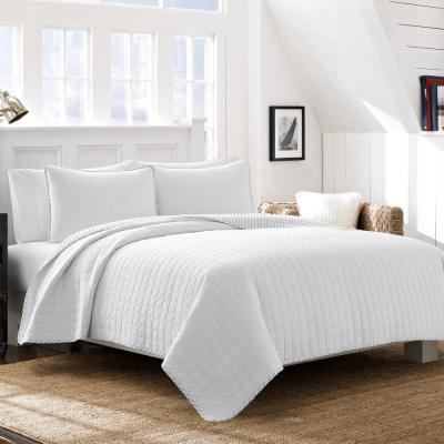 Maywood White 3-Piece King Quilt Set
