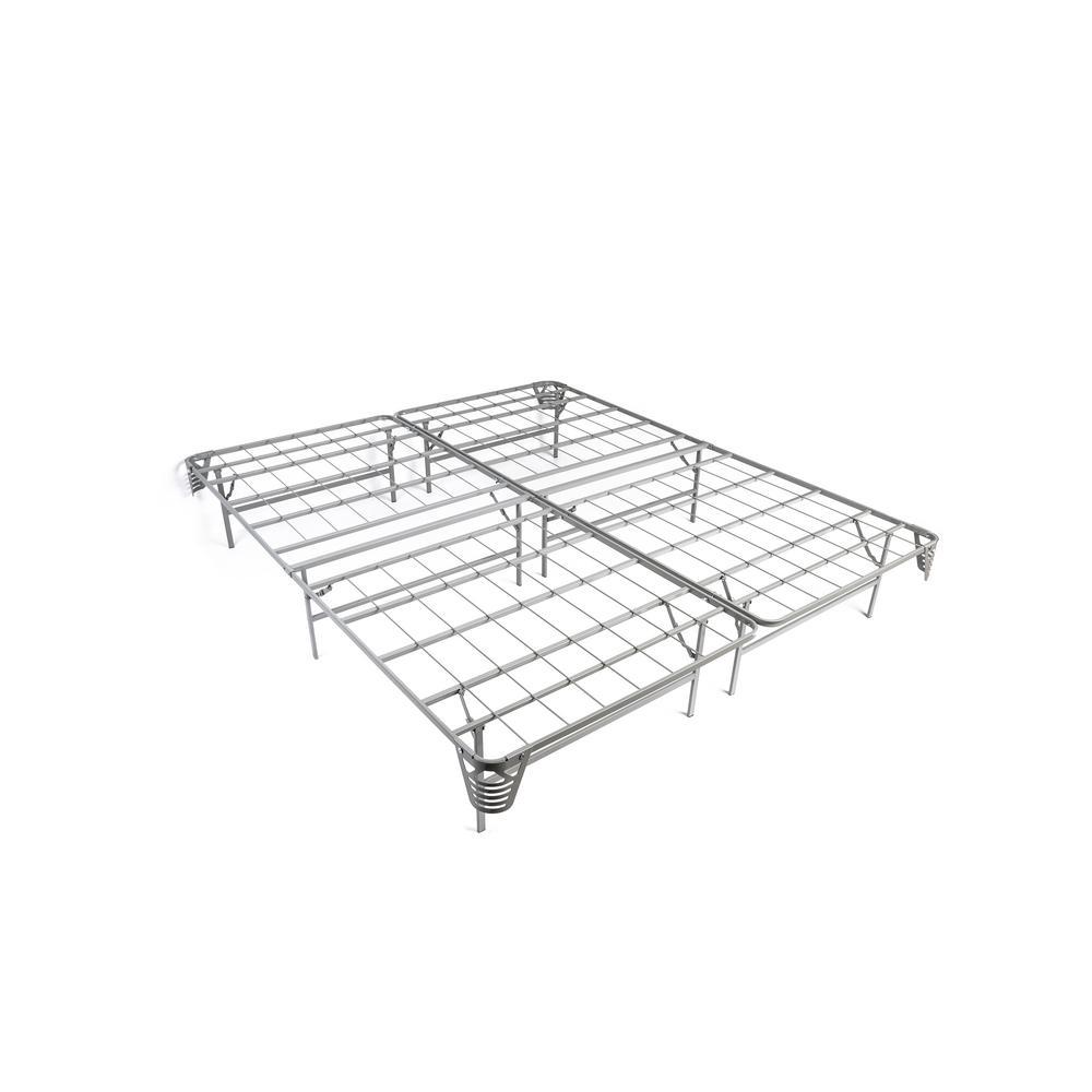 Malfoy Silver California King Full Metal Folding Bed Frame