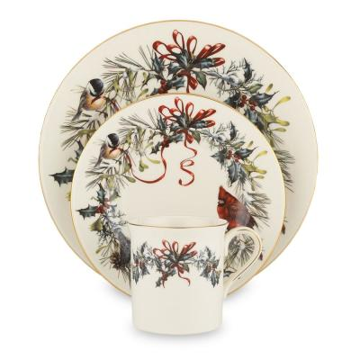 Winter Greetings Bone China Dinnerware Set (12-Piece)