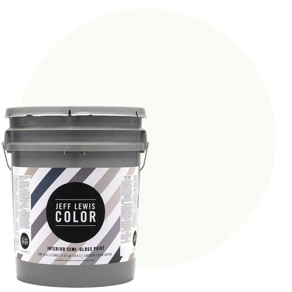 Jeff Lewis Color 5-gal. #JLC611 Pearl Bracelet Semi-Gloss Ultra-Low VOC Interior Paint