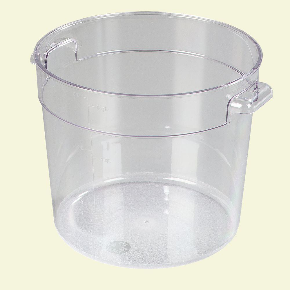 Carlisle 6 qt Polycarbonate Round Storage Container in Clear Case