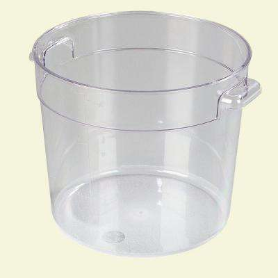6 qt. Polycarbonate Round Storage Container in Clear (Case of 12)