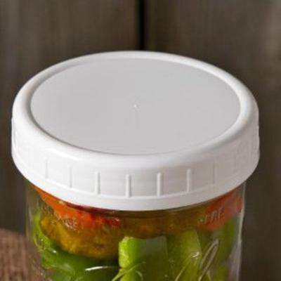 Wide Mouth Plastic Storage Caps (Pack of 8)