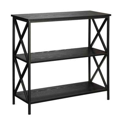 Tucson Black 3-Tier Bookcase