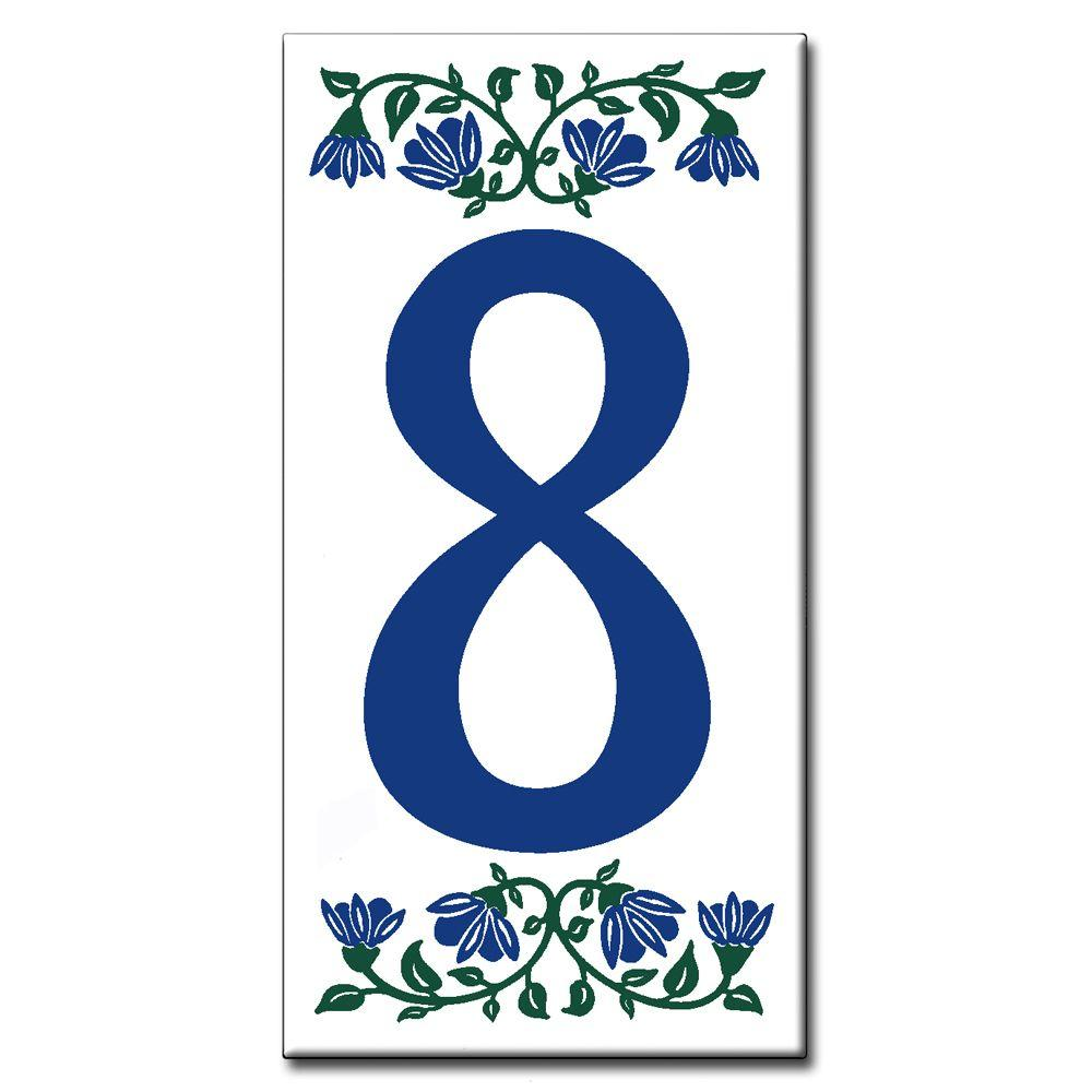 null Ceramic Tile 3 in. x 6 in. Blue Bell Number 8