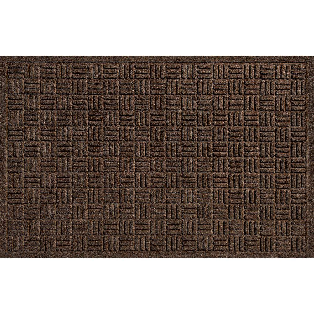 Textures Parquet Brown 24 in. x 36 in. Door Mat