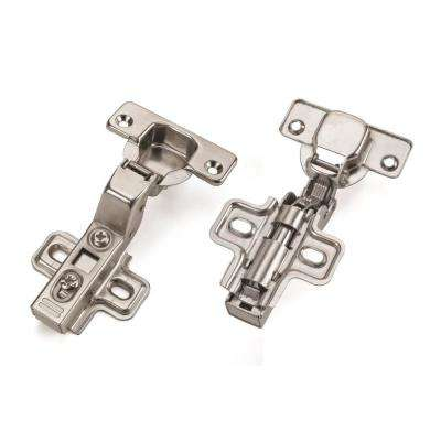 European Chrome Full Overlay 110-Degree Soft Close Hinge (1-Pair)
