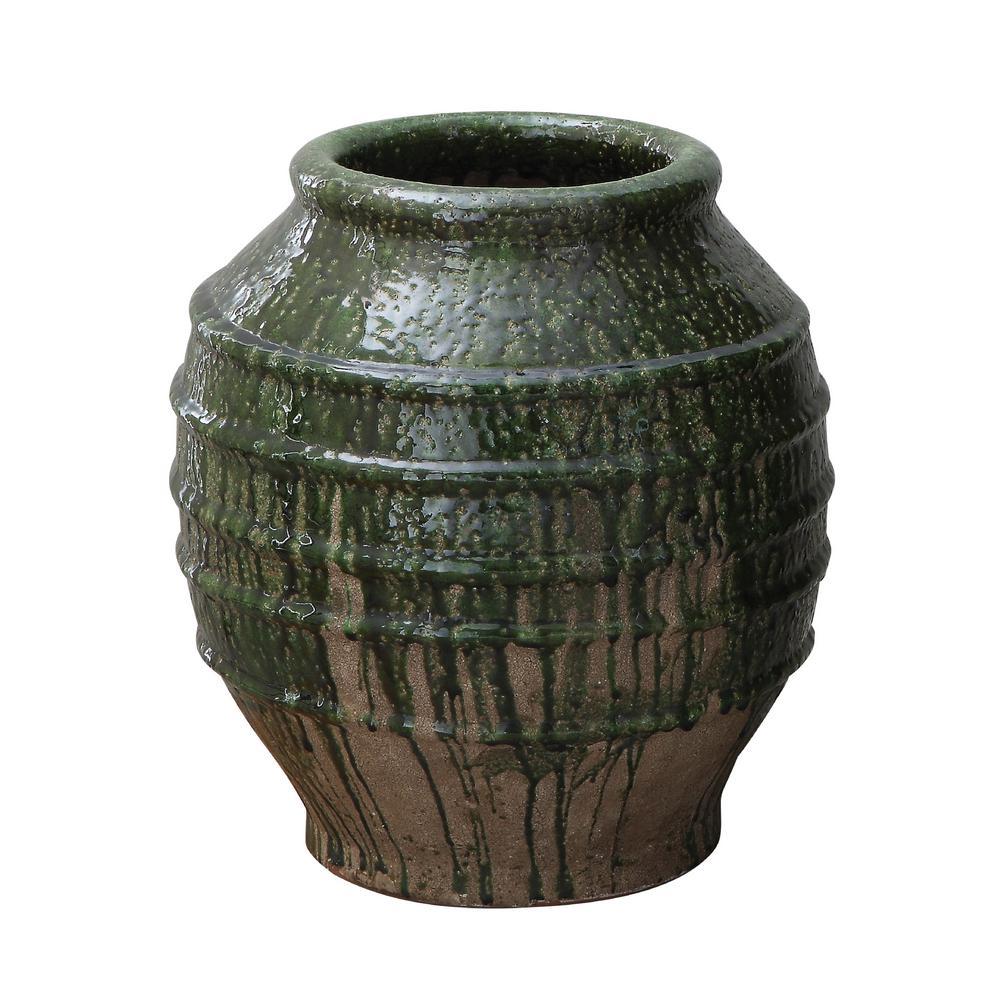 Small Green Terracotta Planter