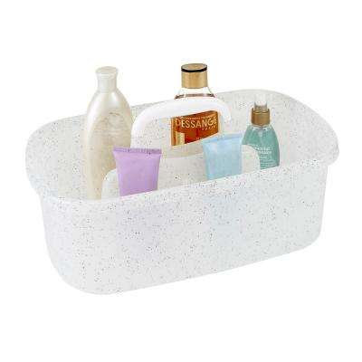 Granite Look Shower Caddy in White