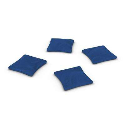 Official ACA Sized Royal Blue Corn-filled Duck Cloth Cornhole Bags (4-Set)