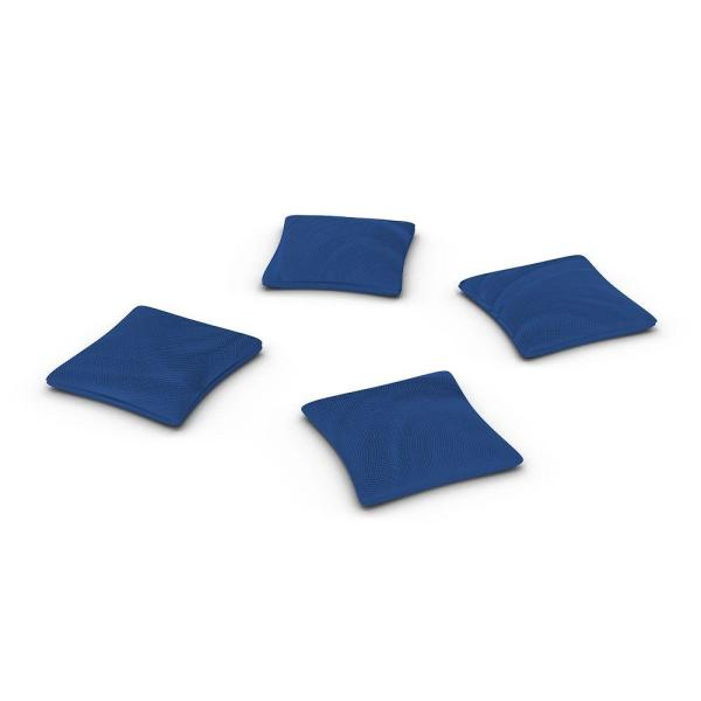 Official ACA Sized Royal Blue Corn-filled Duck Cloth Cornhole Bags (4-Set)