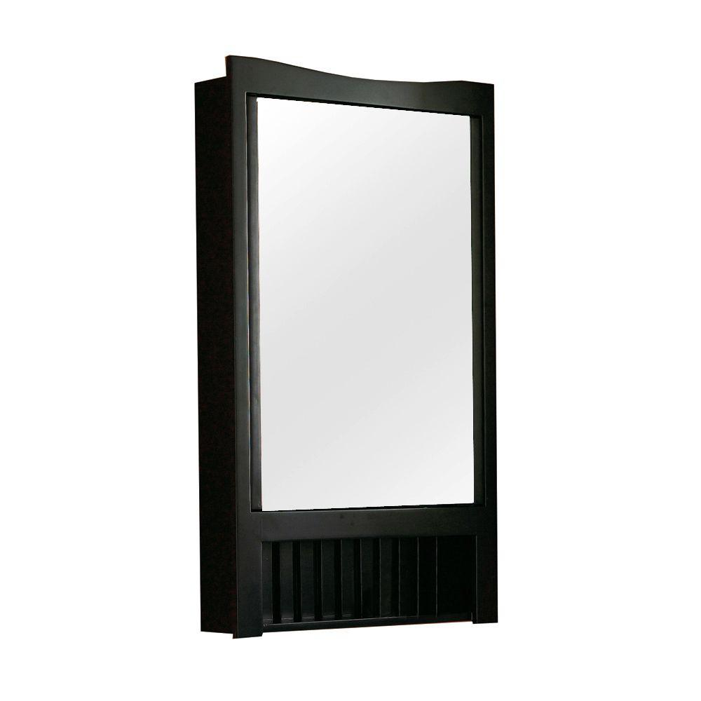 DECOLAV 24 in. W x 4.5 in. D x 33.25 in. H Surface-Mount Mirrored Medicine Cabinet in Dark Red Mahogany-DISCONTINUED