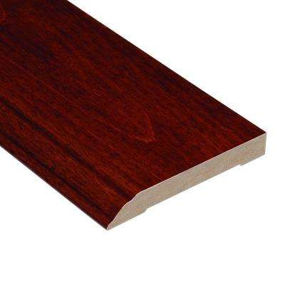 High Gloss Birch Cherry 1/2 in. Thick x 3-1/2 in. Wide x 94 in. Length Hardwood Wall Base Molding