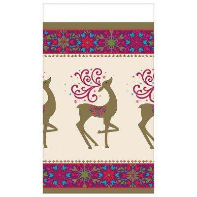 Winter Whimsy Deer 4.5 in. x 7.75 in. Paper Christmas Guest Towel (36-Count, 3-Pack)