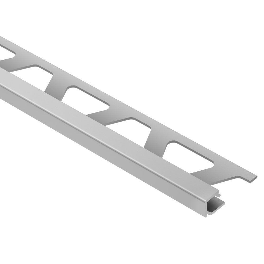 Quadec Satin Anodized Aluminum 1/2 in. x 8 ft. 2-1/2 in. Metal Square Edge Tile Edging Trim
