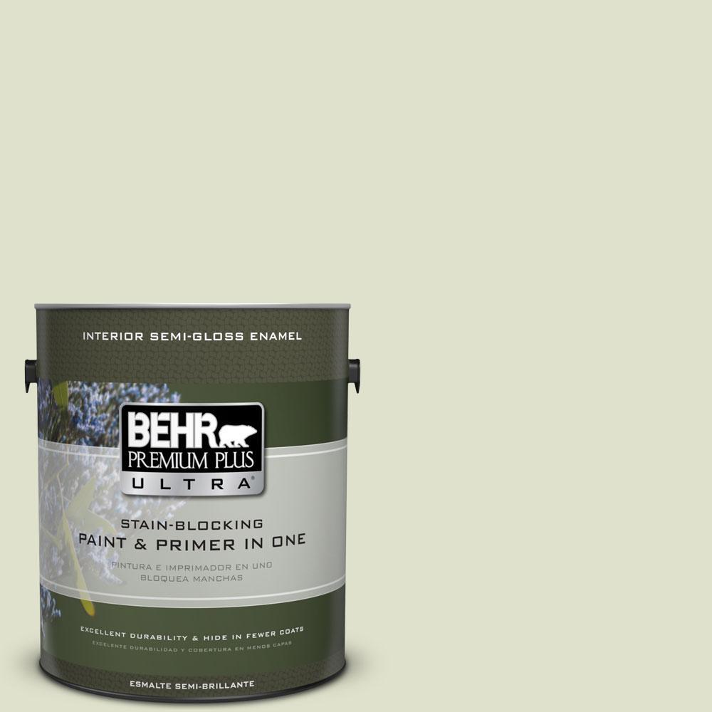 BEHR Premium Plus Ultra 1-gal. #M350-2 Aloe Nectar Semi-Gloss Enamel Interior Paint