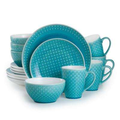 Palma 16-Piece Turquoise Dinnerware Set  sc 1 st  Home Depot & Teal - Dinnerware Sets - Dinnerware - The Home Depot