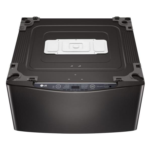 27 in. 1.0 cu. ft. SideKick Pedestal Washer with TWINWash System Compatibility in Black Steel