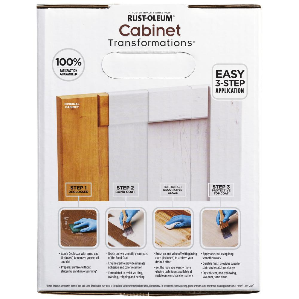 Rust Oleum Transformations Light Color Cabinet Kit 9 Piece 258109 The Home Depot