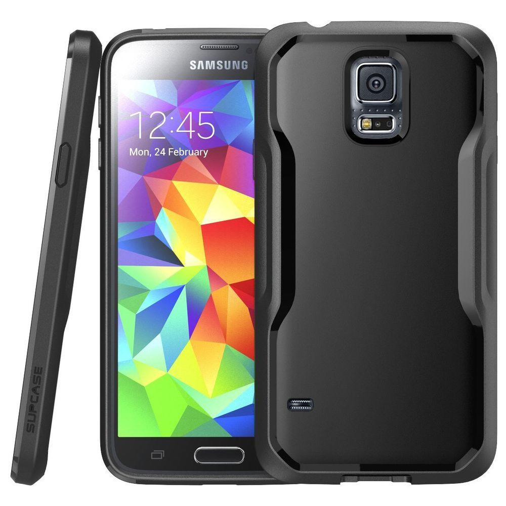 SUPCASE Unicorn Beetle Hybrid Bumper Case for Samsung Galaxy S5, Black