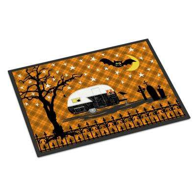 18 in. x 27 in. Indoor/Outdoor Halloween Vintage Camper Door Mat