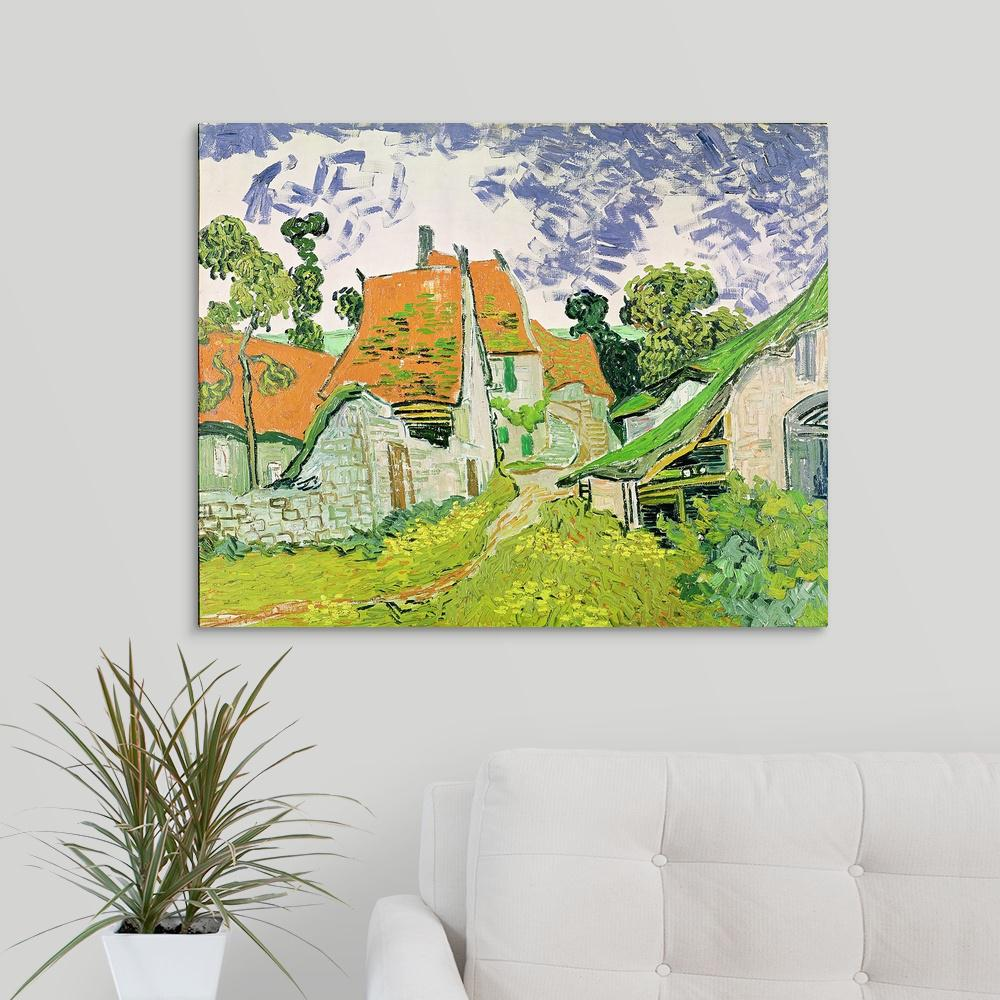 Fade Resistant HD Art Print or Canvas House in Auvers Vincent van Gogh 1889