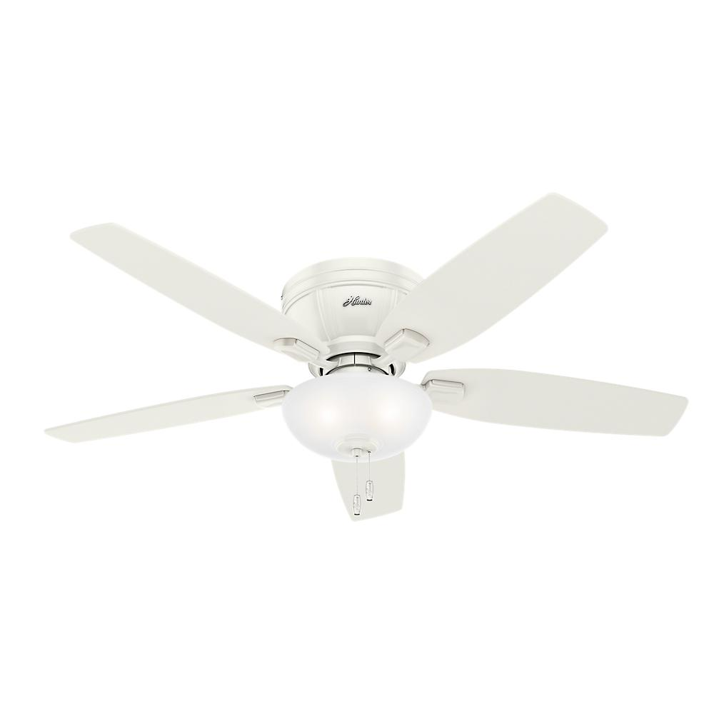 Hunter Low Profile 52 Led Ceiling Fan At Menards: Hunter Kenbridge 52 In. LED Low Profile Indoor Fresh White