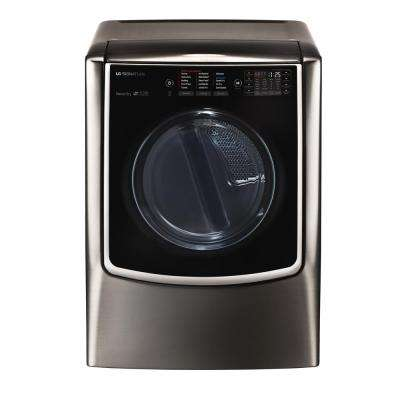 9.0 cu. ft. Electric Dryer with Turbo Steam in Black Stainless Steel