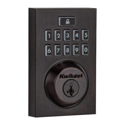 Z-Wave SmartCode 914 Contemporary Single Cylinder Venetian Bronze Electronic Deadbolt Featuring SmartKey Security