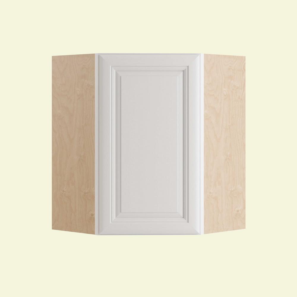 Brookfield Assembled 24x36x12 in. Single Door Hinge Right Wall Kitchen Angle