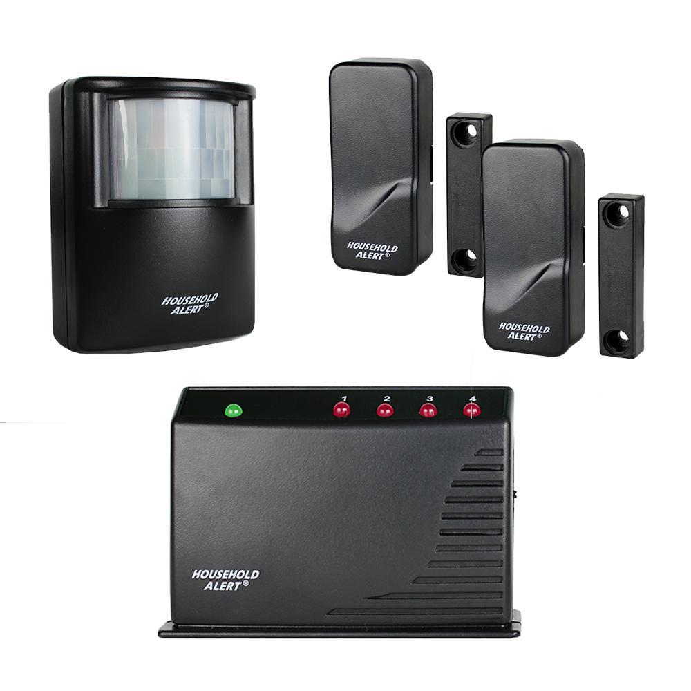 Wireless Deluxe Indoor Outdoor Motion Window Door Long Range Household Alert and Alarm System