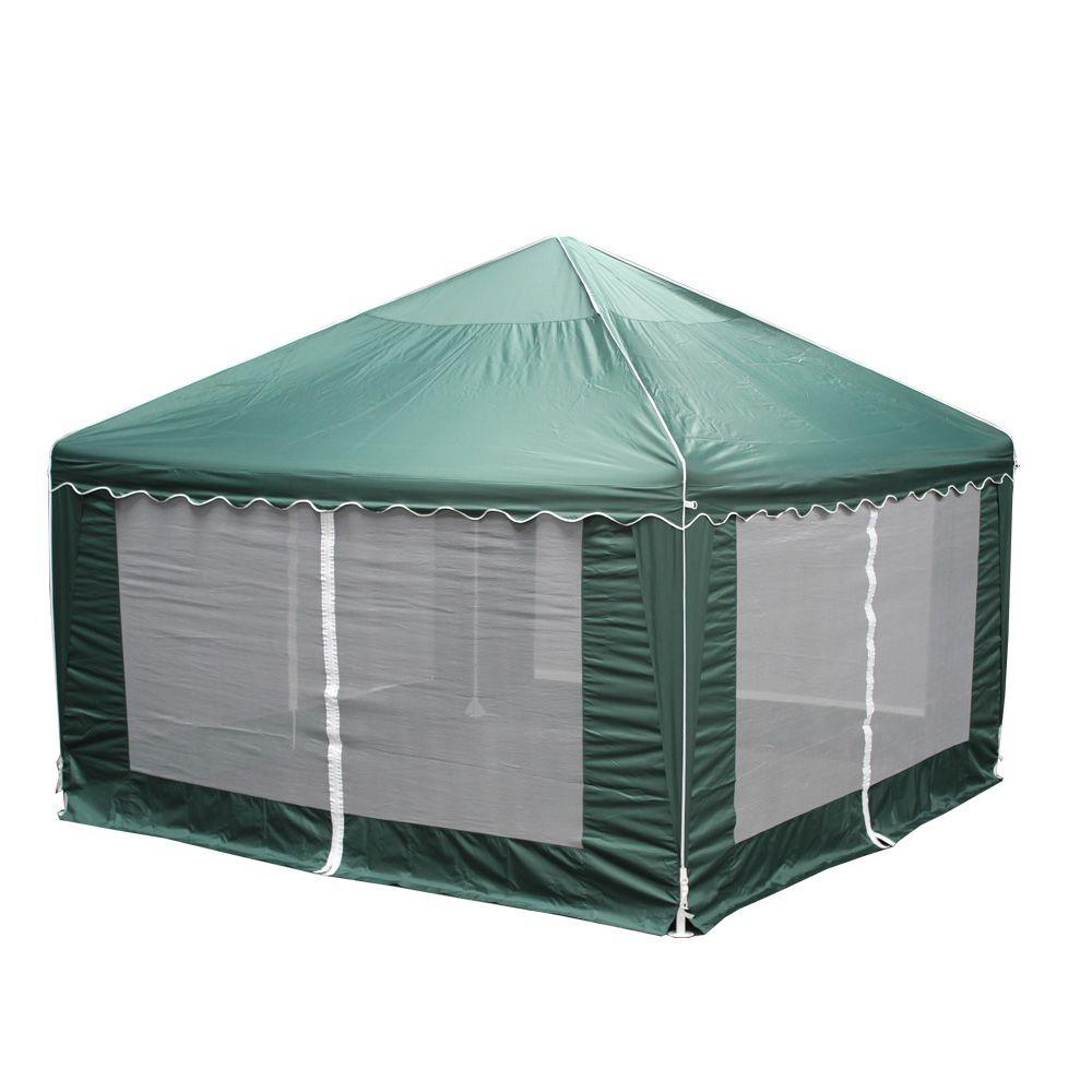 King Canopy Garden Party 13 ft. W x 13 ft. D Green Gazebo  sc 1 st  The Home Depot & King Canopy Garden Party 13 ft. W x 13 ft. D Green Gazebo-GP1313 ...