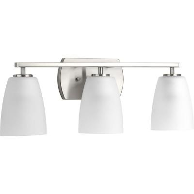 Leap Collection 3-Light Brushed Nickel Bath Light
