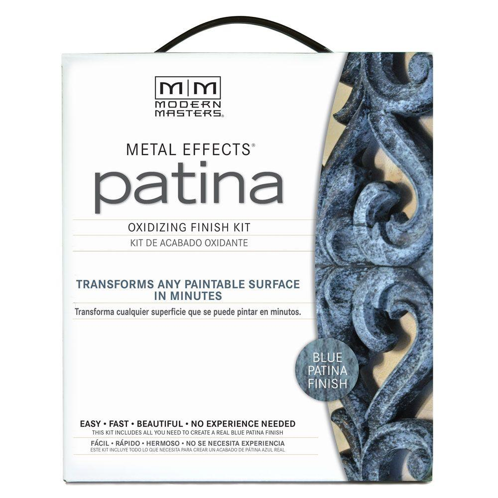 Metal Effects Blue Patina Paint Oxidizing Finish Kit