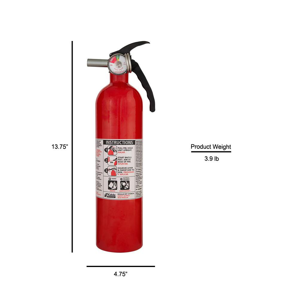 5 Pack 5 lb ABC Pro Line Fire Extinguisher w//Fire Extinguisher Cover