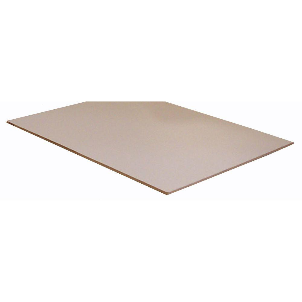 White Hardboard Panel (Common: 1/8 in. x 3 ft. x 7 ft.; Actual: 0.110 in. x 36.5 in. x 84.5 in.)