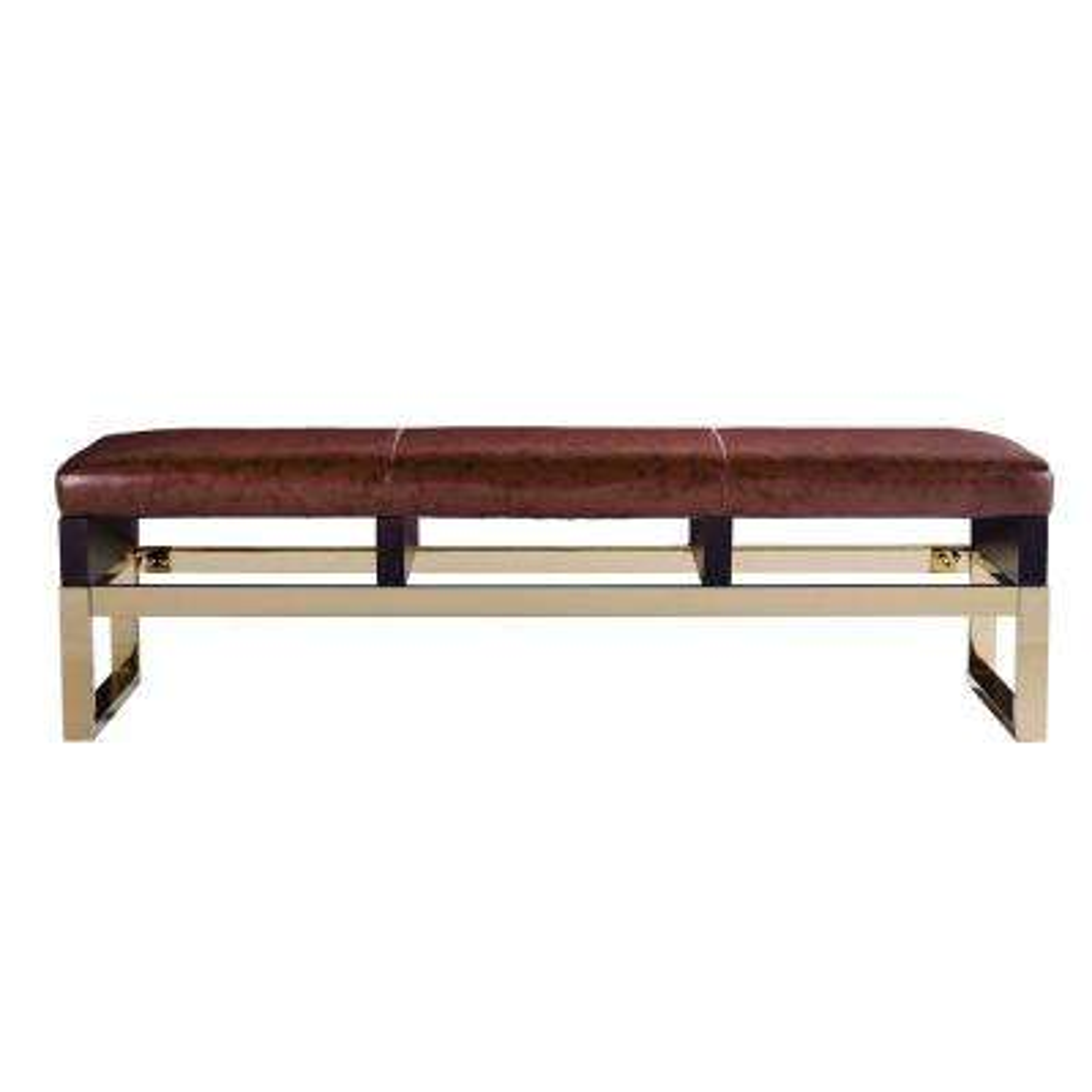 Coronado Espresso Mid Century Modern Bench