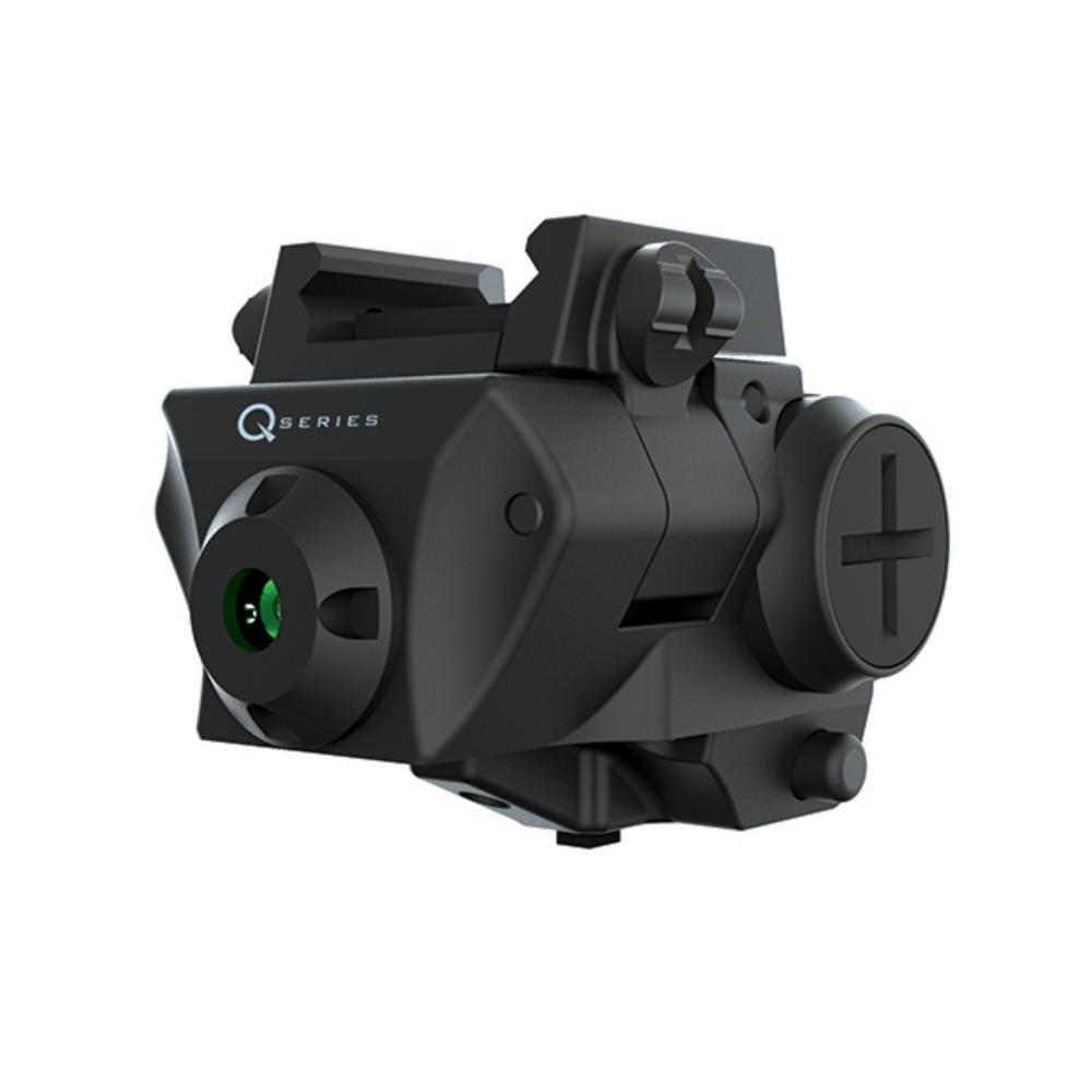 iProtec Q-Series Adjustable 5mW 532nm Green Laser for Rail-Equipped Compact  and Subcompact
