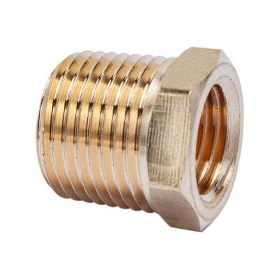 3/8 in. MIP x 1/4 in. FIP Brass Pipe Hex Bushing Fitting (10-Pack)