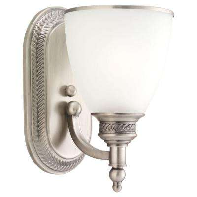 Laurel Leaf 1-Light Antique Brushed Nickel Sconce