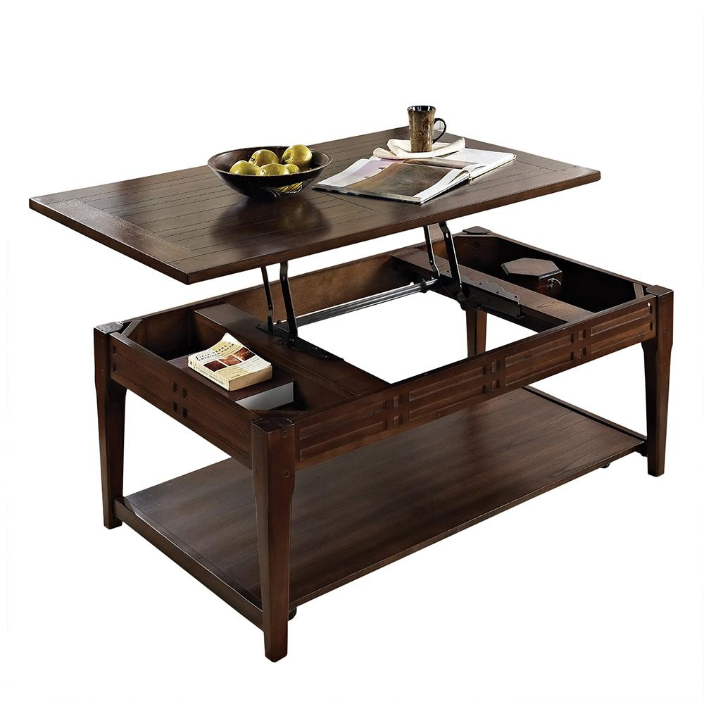 Steve Silver Crestline Cherry Lift Top Tail Table